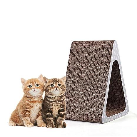 Flyci Cat Scratch Board Scratcher Vertical de 3 Caras y Poste ...
