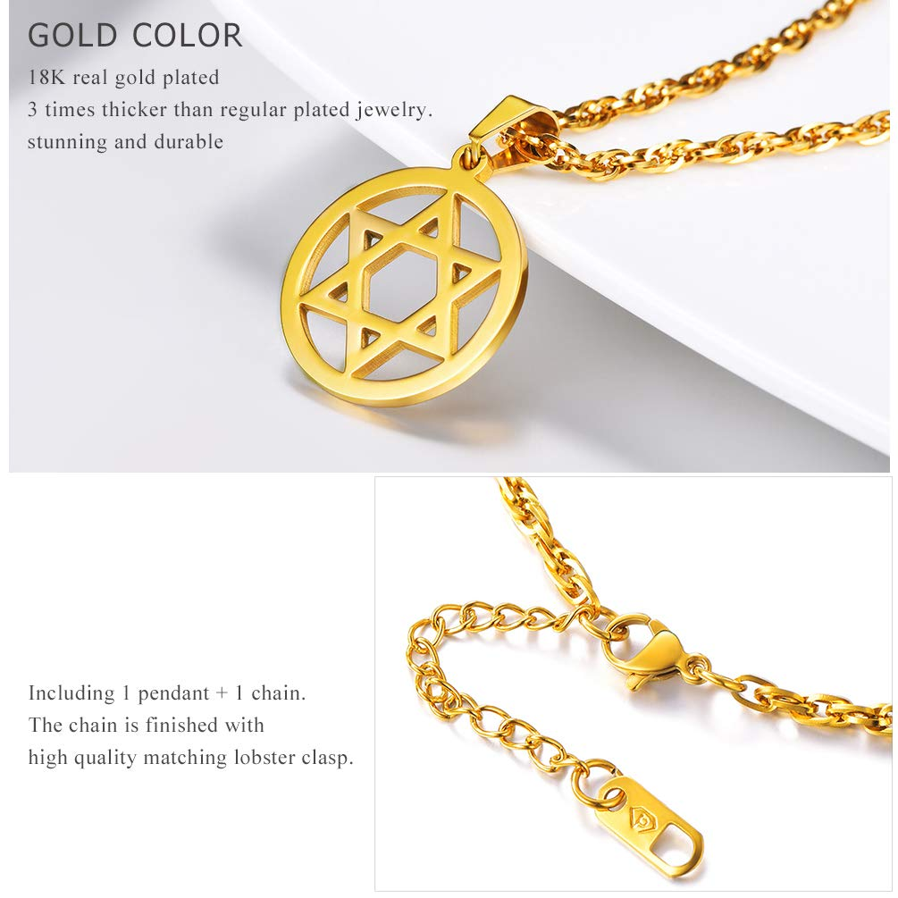 efffb70bb6c3c Buy PROSTEEL PROSTEEL Jewish Magen Star of David Necklace Men/Women ...