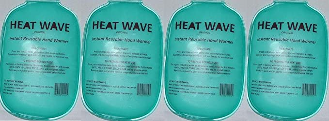 HEAT WAVE Instant Reusable Heat Pack HAND WARMERS -=2 pairs Heat Wave - Premium Quality - Medical Grade - Made in USA, not China by Heatwave: Amazon.es: ...