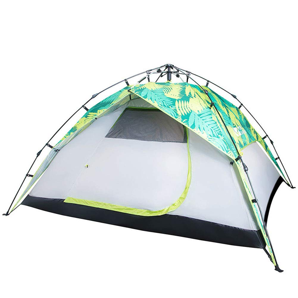 Zelt, 3-4 Personen Camping Zents Beach Family Automatic Pop Up Doppel-Ebene Wasserdichte Windproof Zents