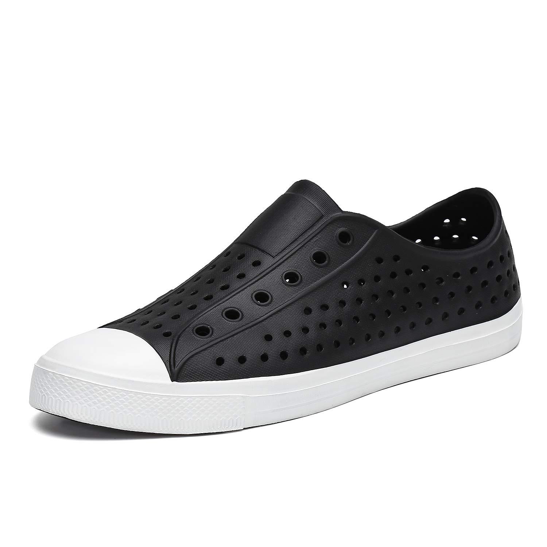 SAGUARO Boys Girls Kids Garden Clogs Sandals Lightweight Quick Dry Slip-On Beach River Water Shoes Black 3.5 M US Big Kid
