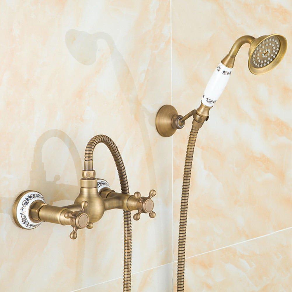 Cobre antiguo retro estilo europeo ducha de lluvia conjunto ducha ...