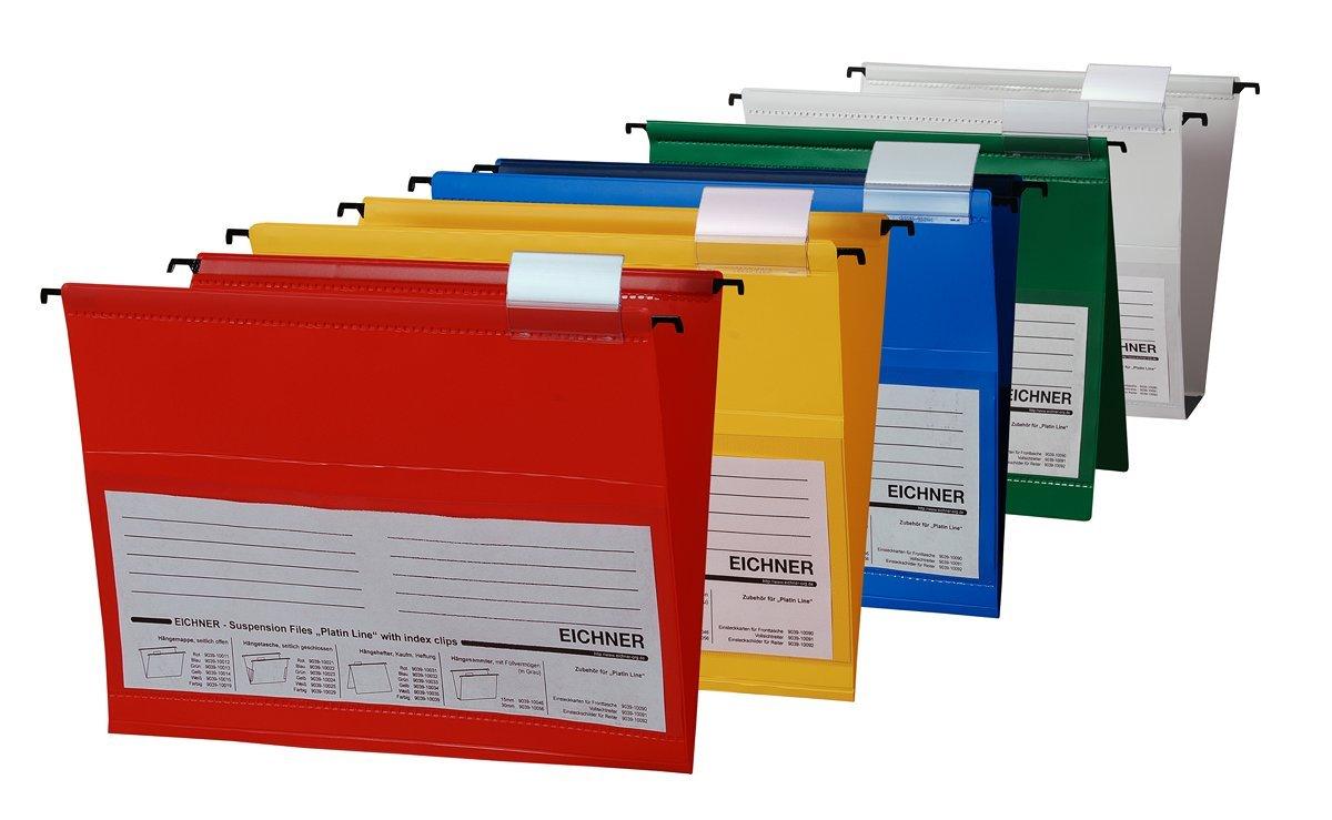 EICHNER Hängemappen aus PVC in 5 Farben 10 Stück Hängehefter Hängetasche