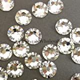 New Swarovski Elements 2058 (2028) Foiled Flatbacks ss 34 Crystal Clear 1 Gross (144) Rhinestones Factory Pack