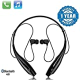 SHOPTOSHOP TM Bluetooth Wireless Headphones Sport Stereo Headsets Hands-Free with Microphone and Neckband for Android and Apple Devices (Multi Colored) (Standard)