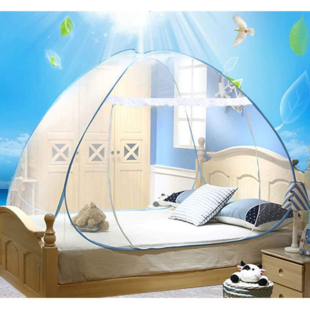 Cama doble de viaje Yurt mosquitera Mosquitera impregnada de cama para viajeros y excursionistas de interior y exterior
