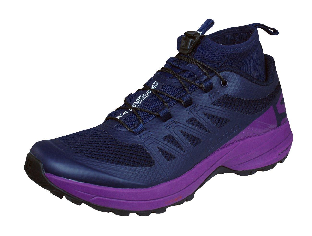 Salomon Women's XA Enduro W Trail Runner, Evening Blue/Grape Juice/Black, 9.5 M US