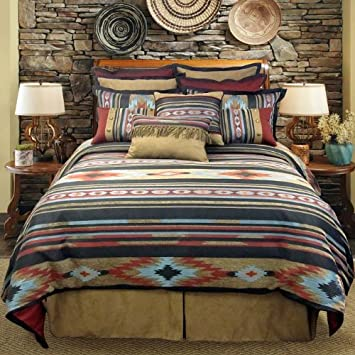 Veratex The Santa Fe Collection 100 Polyester Decorative Bedroom Tribal Southwestern Boudoir Pillow, Rust