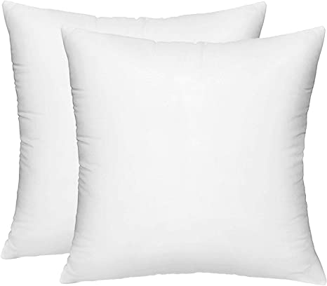 Amazon Com Hippih 2 Pack Pillow Insert 18 X 18 Inch Hypoallergenic Decorative Square Sofa And Bed Pillow Form Inserts Kitchen Dining