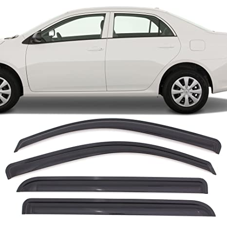 Amazon.com  Window Visors Fits 2009-2013 Toyota Corolla  72d29cd170b