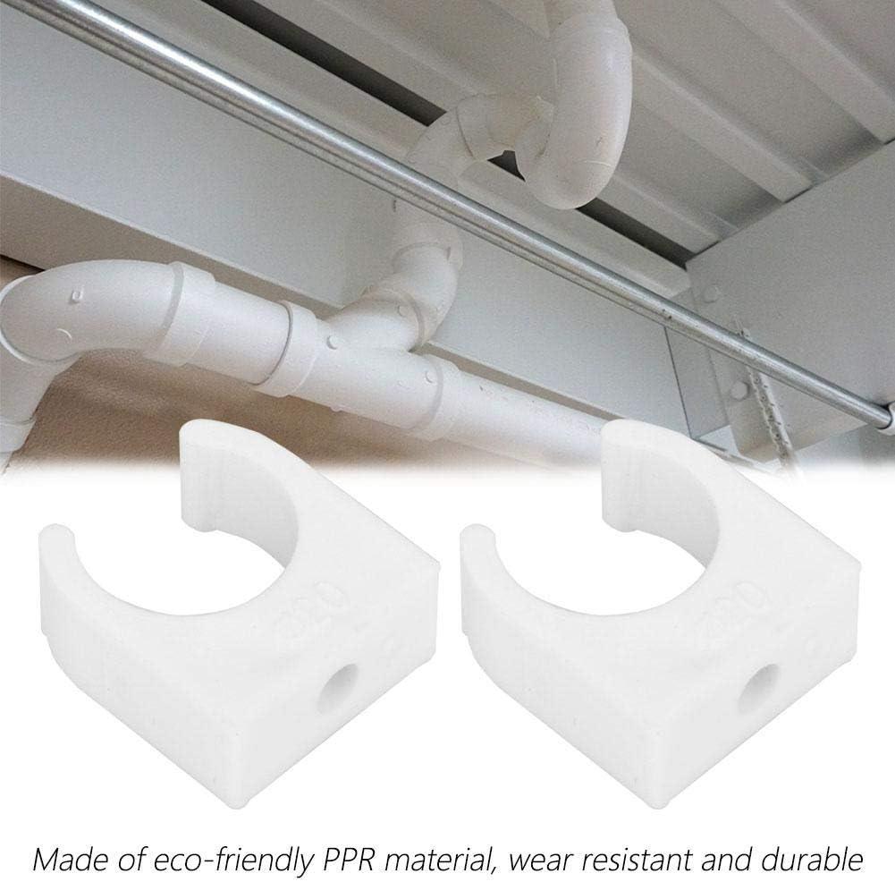 Abrazadera de tubo 25mm 32mm PPR Forma de U Tuber/ía Abrazadera Tubo Sujetador de sujeci/ón con tornillos 20pcs 16//20//25