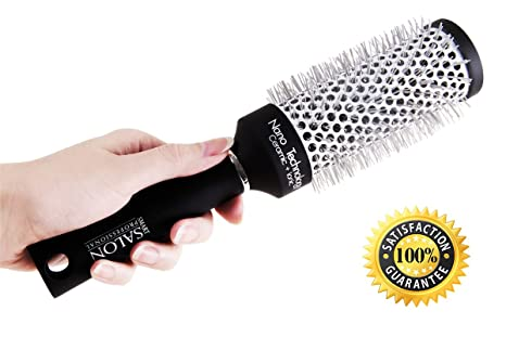 Smart Salon Professional - Cepillo grande para secar y alisar el cabello (longitud media de 45 mm), cepillo redondo ...