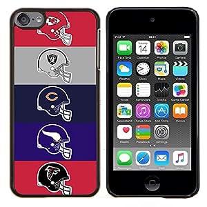 /Skull Market/ - Football Team Helmets For Apple iPod Touch 6 6th Generation - Mano cubierta de la caja pintada de encargo de lujo -