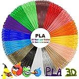 PLA 3D Pen Filament Refills(16 Colors, 20 Feet Each) with 100 Stencils EBooks - Dikale 3D Printing Pen Filament 1.75mm Total 320 Feet for Polaroid, NEXTECH, Soyan, LAPOND, Amzdeal Intelligent 3D Pen