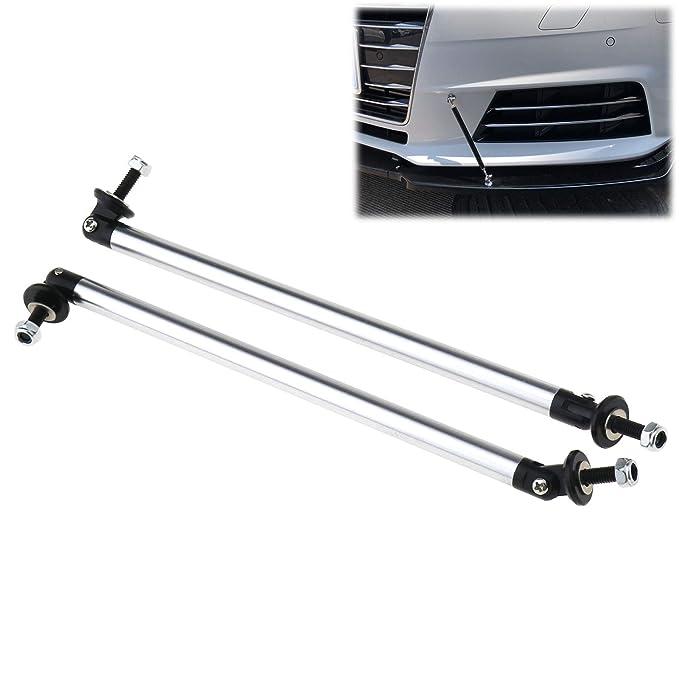 ENET 2/x Ajustable Coche Delantero//Trasero Bumper Lip Splitter Strut Brace Barra de Apoyo 200/mm