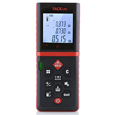 Tacklife Advanced Laser Measure 328Feet Digital Laser Distance Meter Mute Setting Range Finder Laser