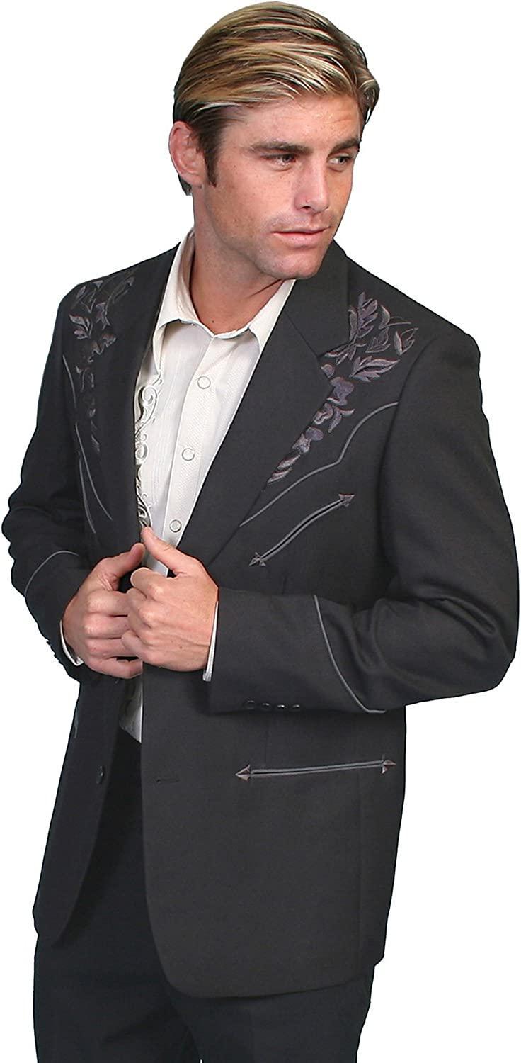 Scully Shirts Men's Floral Embroidered Jacket