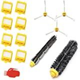 Smartide 700 Series Kit de reemplazo para iRobot Roomba, incluye 8 piezas de filtro, 3 piezas de cepillo lateral, 1 pieza de cepillo de batidor flexible, 1 pieza de cepillo de cerda y 1 pieza de limpieza de herramienta