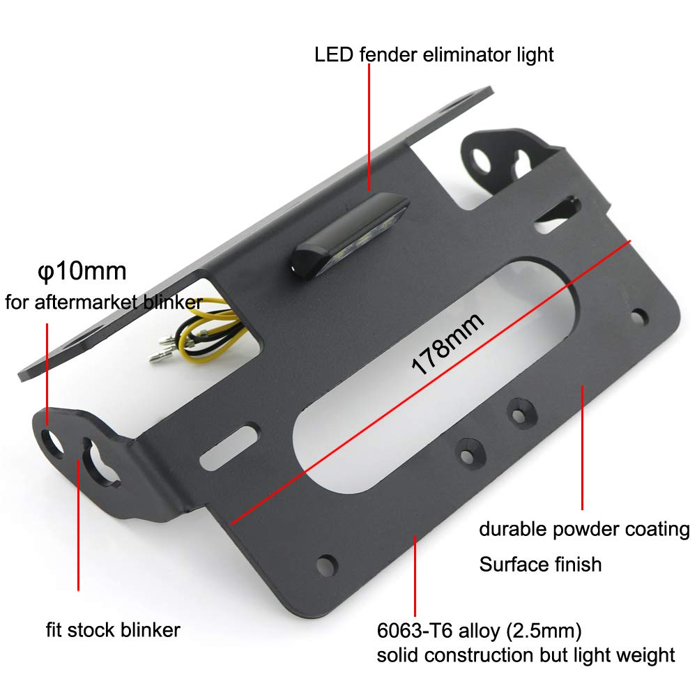 S1000RR Tail Tidy////Fender Eliminator ///License Plate Holder for BMW S1000RR 2009-2019 Compatible with OEM/// Stock Blinker And Aftermarket Turn Signal S1000R 2014-2019 With/LED/License Plate Light