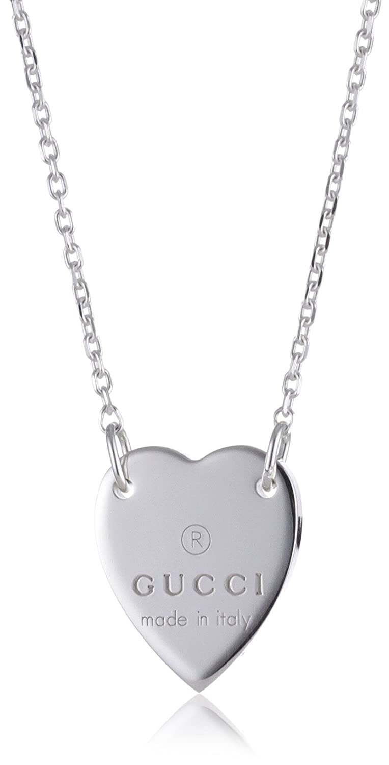144b62917d9 Amazon.com  Gucci Necklace Trademark Heart Pendant in Sterling Silver  Ybb223512001  Jewelry