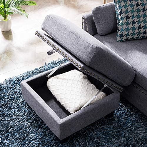 home, kitchen, furniture, living room furniture,  sofas, couches 7 image HONBAY Reversible Sectional Sofa Couch for Living Room in USA