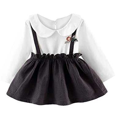 5ed6ac1ce52 Euone for 0-2 Years Old Girl Dress Baby Long Sleeve Shirt Skirt Princess  Dresses
