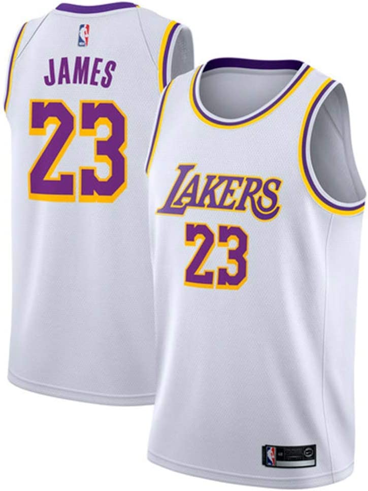 MTBD NBA Lebron James, NO.23 Lakers Retro, Camiseta de Jugador de Básquetbol, Bordado Transpirable y Resistente al Desgaste Camiseta de Fan de Hombres
