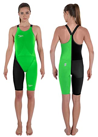 befb2bdf90b Speedo LZR Racer Elite 2 Closedback KneeSkin Fluo Green   Black 26   Amazon.co.uk  Sports   Outdoors