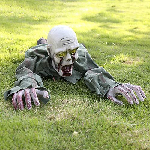 Ground Breaker Zombie Animated Prop - Yoyo Halloween Crawling Zombie Ghost Skeleton