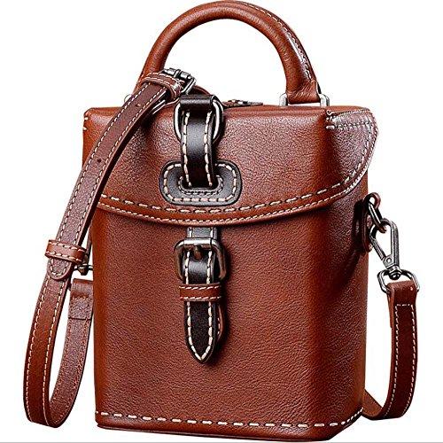 Leather Handmade Tanned Leather Mini Vegetable Threading Bag Shoulder GJX Handbag Handbag Retro Diagonal wcPqv06f