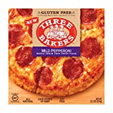 Three Bakers Gluten Free Whole Grain Thin Crust Pizza Uncured Mild Pepperoni, 9 Ounce (Pack of 08)