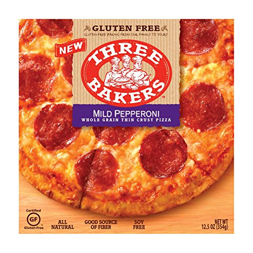Three Bakers Gluten Free Whole Grain Thin Crust Pizza Uncured Mild Pepperoni, 9 Ounce (Pack of 08) by Three Bakers (Image #1)