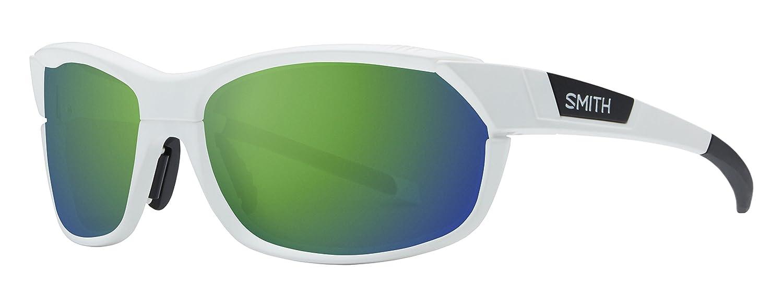 Smith ovpcgmmw Herren-Sonnenbrille Weiß Matt Rahmen grÜn Objektiv rechteckig