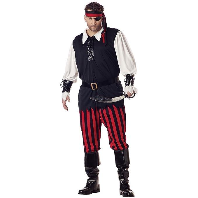 California Costumes 01611 - Disfraz De Pirata Cutthroat Para Los Hombres Talla Plus 4XL - 5XL: Amazon.es: Juguetes y juegos