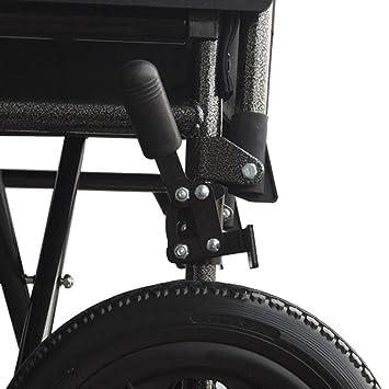 Silla de ruedas S230 de acero y transit - Prim ancho de asiento 43 cm: Amazon.es: Hogar