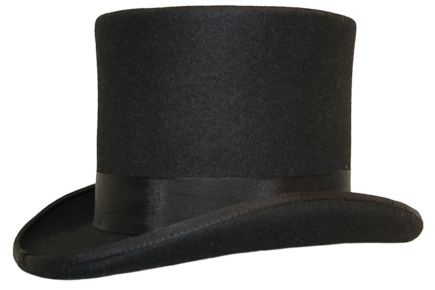 04221a83c67 HIGH QUALITY 100% WOOL TOP HAT --- SATIN LINED --- BOXED  Amazon.co.uk   Clothing