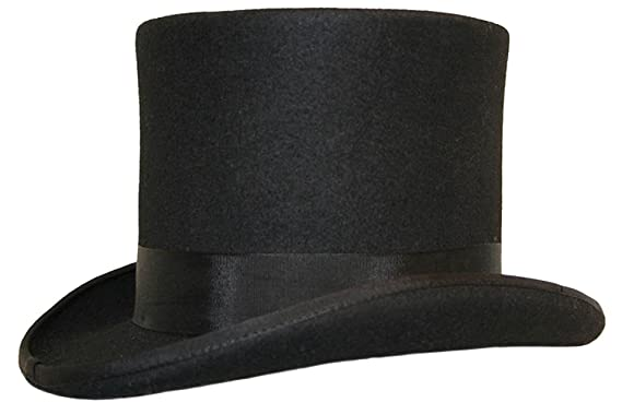 b0c6e4ed979 HIGH QUALITY 100% WOOL TOP HAT --- SATIN LINED --- BOXED  Amazon.co ...