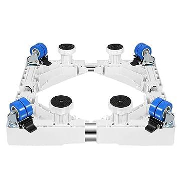 NYDZ Base móvil Ajustable Multifuncional con Ruedas giratorias de Goma con Bloqueo 4 × 2 y Plataforma móvil de 4 Patas con Ruedas para la Lavadora, ...