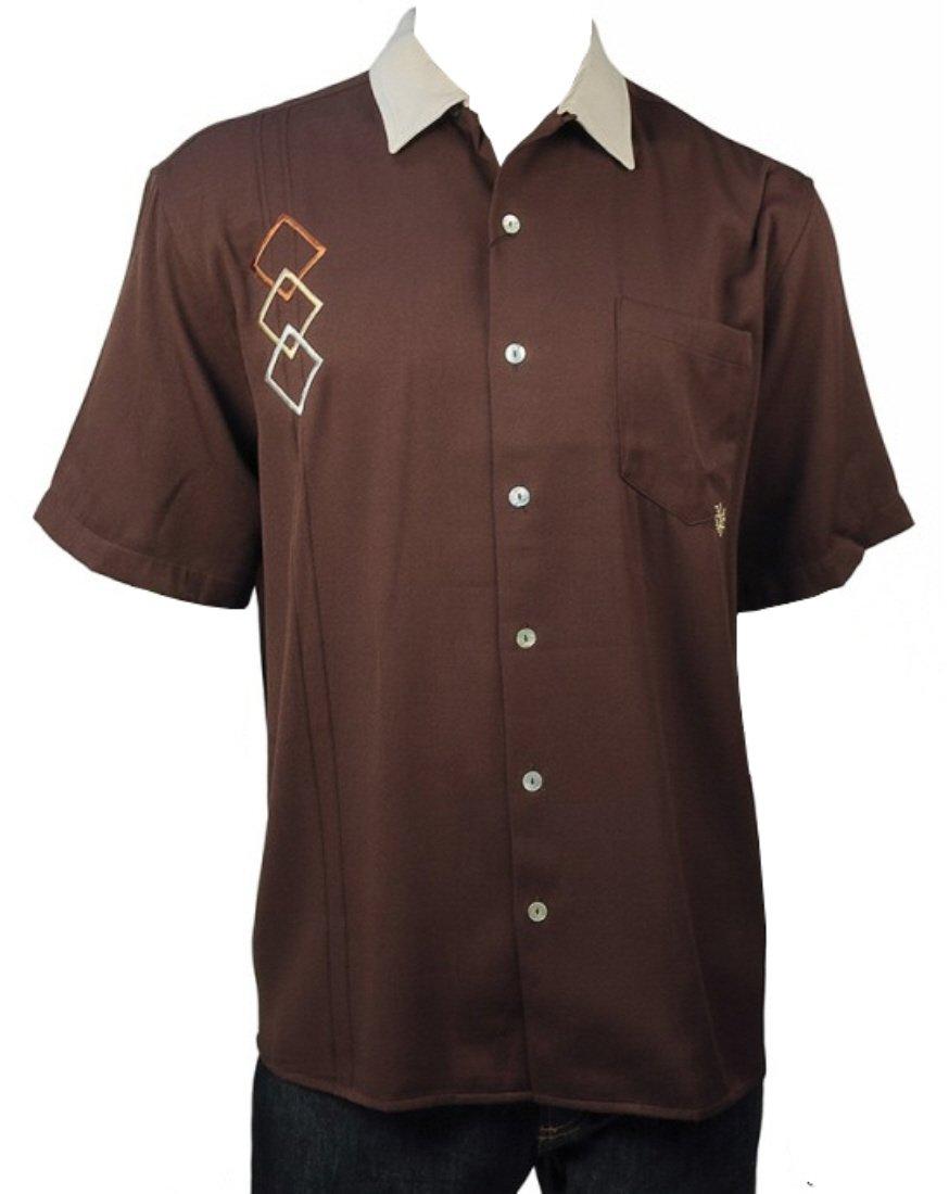 Davinci Triple D Bowling Shirt (M, Brown)