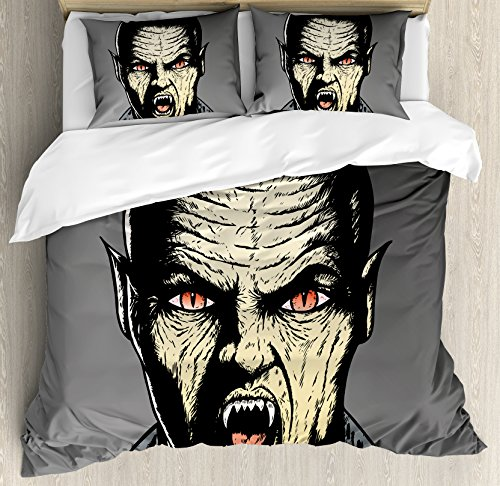 Vampire King Size Duvet Cover Set by Ambesonne,