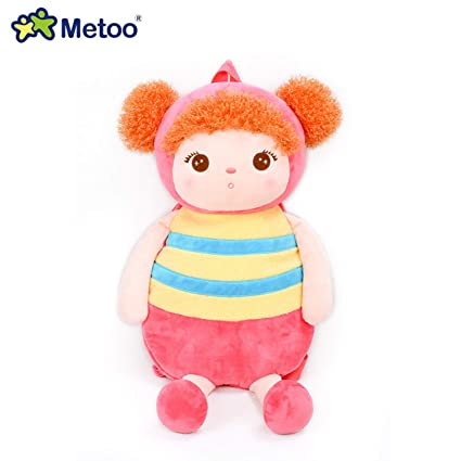 Jewh MeToo Kids Baby Bags Animals Cartoon Doll Toy Children Shoulder Bag for Kindergarten Angela Rabbit