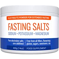 Fasting Salts: Sodium, Potassium, Magnesium. Pure Electrolyte Powder for Extended Fasting. Zero Additives: Free from All…