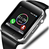 Smart Watch - Sazooy Bluetooth Smart Watch Support Make Answer Phones Receive/View Messages Compatible Android iOS Phones wit