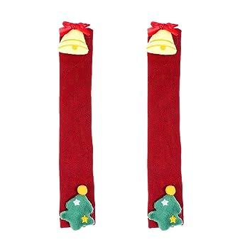 Toyvian 2 Piezas Cubierta de manija de Navidad Campana de árbol de ...