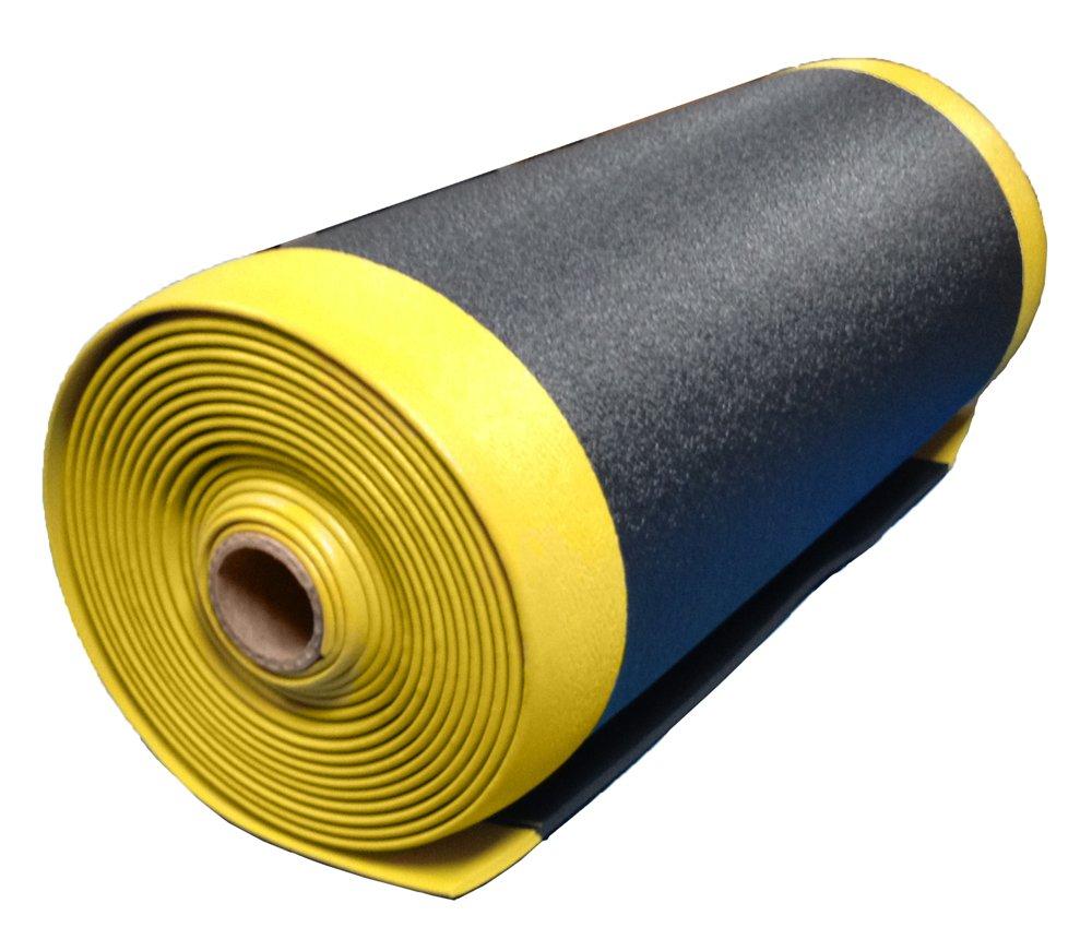 4 Wide x 10 Long x 3//8 Thick Black Textured Pattern Bertech Anti Fatigue Vinyl Foam Floor Mat Made in USA