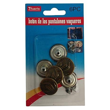 Pack de 6 Botones de Pantalones Vaqueros con Dibujo: Amazon ...
