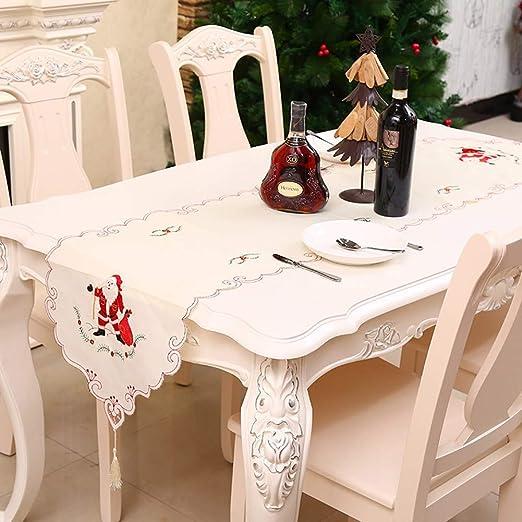 Camino de Mesa de Navidad, diseño de Bandera de Flores, Bordado ...