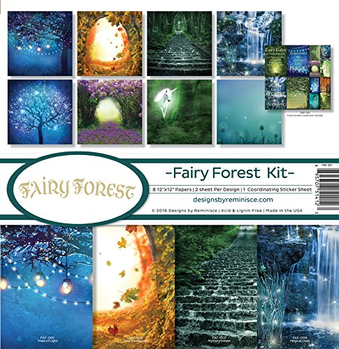 (Reminisce Scrapbook Fairy Forest Collection Kit )