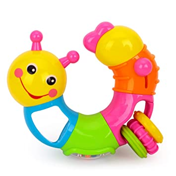 Pink Early Education 6 Months Olds Baby Toy Cute Little Toy Insects