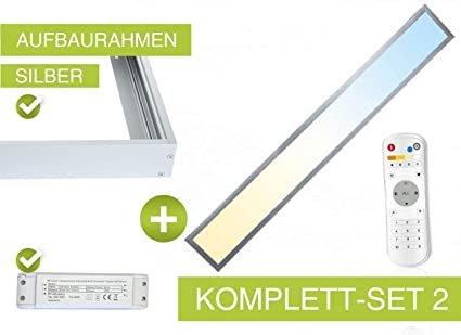 Top CCT LED Panel Set2 120x15cm 36W 3000K- 6000K silber: Amazon.de MN73